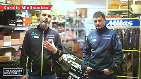 Karolis Mieliauskas savo motociklą paruošė kelionei atšiauriomis sąlygomis