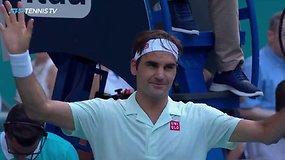 Šeštoji ATP diena Majamyje: R.Federerio pergalė ir paskutinė D.Ferrero dvikova