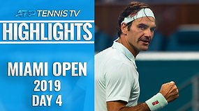 Ketvirtoji ATP diena Majamyje: R.Federerio sugrįžimas ir D.Ferrero staigmena