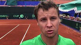 Davis Cup: Marokas - Lietuva. Ričardo Berankio komentaras po pergalės prieš A.Mounirą
