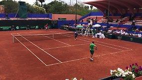 Davis Cup Marokas - Lietuva. Susitikimo tarp R.Berankio ir A.Mouniro pabaiga.