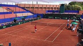 Davis Cup: Marokas - Lietuva. Finalinis susitikimo tarp R.Berankio ir L.Ouahabo taškas