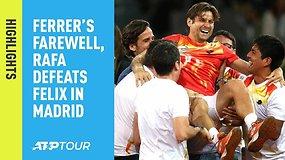 Ketvirtoji ATP diena Madride: Rafos pergalė ir D.Ferrero paskutinysis mačas