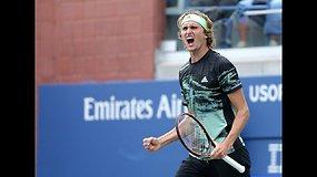 """""""US Open"""": Alexanderis Zverevas prieš Radu Albotą"""