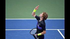 """""""US Open"""": Stefanos Tsitsipas prieš Andrėjų Rublevą"""