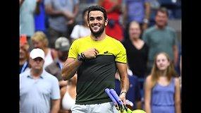 """US Open"": Matteo Berrettini prieš Gaelį Monfilsą"