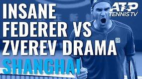 Neįtikėtina drama antrajame sete dvikovoje tarp A.Zverevo ir R.Federerio