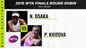 WTA finalai: Naomi Osaka prieš Petrą Kvitovą
