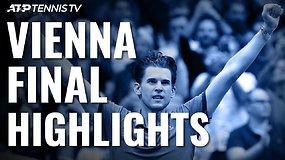 ATP turnyro Vienoje finale – Dominico Thiemo triumfas prieš Diego Schwartzmaną