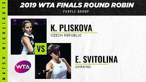 WTA finalai: Karolina Pliškova prieš Eliną Svitoliną