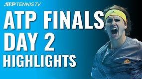 """Antrosios """"Nitto ATP Finals"""" dienos apžvalga: skambūs S.Tsitsipo ir A.Zverevo pareiškimai"""