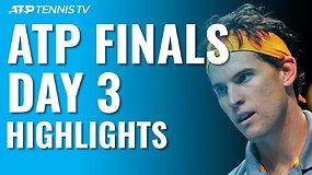 """Trečiosios """"Nitto ATP Finals"""" dienos apžvalga: antroji D.Thiemo staigmena ir R.Federerio pergalė"""