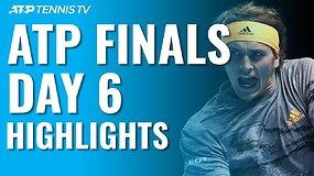 """Šeštosios """"Nitto ATP Finals"""" dienos apžvalga: R.Nadalio pergalės neužteko – į pusfinalį pateko A.Zverevas"""