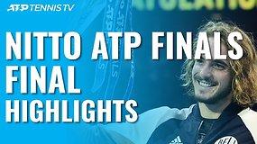 """""""Nitto ATP Finals"""" finalo apžvalga: Stefanos Tsitsipas trijų setų trileryje palaužė Dominicą Thiemą!"""