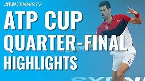 Aštuntosios ATP taurės dienos apžvalga: pusfinalyje – su ugnimi žaidę ispanai ir N.Džokovičiaus vedami serbai