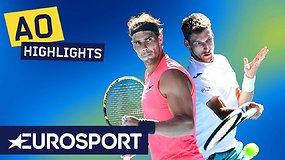 """Australian Open: Rafaelis Nadalis – Pablo Carreno-Busta. Dvikovos akimirkos"