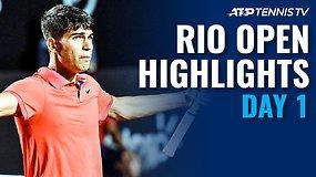 """Pirmoji """"Rio Open presented by Claro"""" diena buvo pažymėta įspūdingais trijų setų maratonais"""