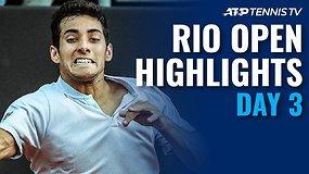 """Trečiosios """"Rio Open"""" dienos apžvalga"""
