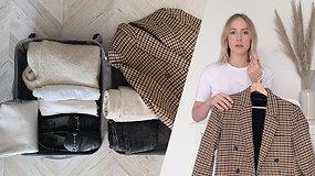 Ruošiamės trumpai kelionei: 7 patarimai, kaip sutalpinti daiktus ir atrodyti stilingai