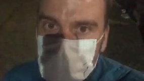 Koronovirusu sergantis M.Kazlauskas tiesiogiai transliavo, kaip buvo išvežtas patikrai į Santariškes