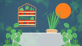 """""""Sodas balkone"""": A.Gaisrės patarimai, kaip užsiauginti gausų derlių balkone"""