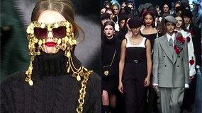 """""""Dolce & Gabbana"""" Milane pristatė 2020–2021 m. rudens ir žiemos kolekciją"""