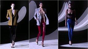 """""""Saint Laurent"""" 2020–2021 m. rudens ir žiemos kolekcijos pristatymas Paryžiuje"""