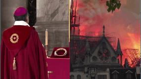 Notre Dame Paryžiaus katedroje pirmą kartą po gaisro surengta ceremonija