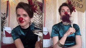 RAUDONOS NOSYS: Rašome laišką su kloune Rože