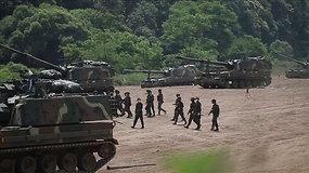 Šiaurės Korėja nesilaiko taikos susitarimo – į pasienį su Pietų Korėja vėl grąžino propagandos garsiakalbius