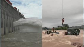 Potvyniai Kinijoje semia viską iš eilės: plaukia namai, gelbėtojai evakuoja žmones
