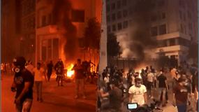 Sprogimas Libane pakurstė ugningus protestus: mitinguotojai įsiveržė į ministerijas, 4 ministrai atsistatydino