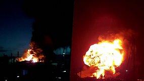 Didžiąją Britaniją supurtė sprogimas, kilo gaisras – žmonėms liepta užsidaryti duris ir langus