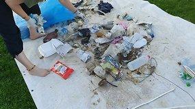 """Žygis """"Už švarią Lietuvą"""" įpusėjo: kokie didžiausi iššūkiai ir kiek atliekų jau surinkta"""