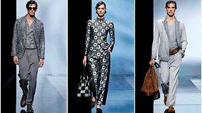 """Naujojoje """"Giorgio Armani"""" kolekcijoje – firminė elegancija ir pasteliniai tonai"""