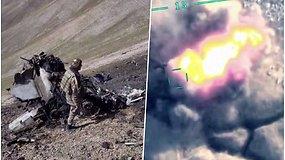Armėnija teigia, kad Turkijos naikintuvas numušė jų lėktuvą – paviešino nuolaužų vaizdus