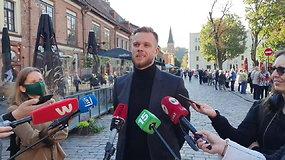 Išankstiniuose rinkimuose Kaune balsuoja  TS-LKD lyderis G.Landsbergis