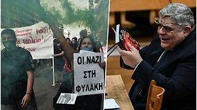 Graikijos neonacių partija pripažinta nusikalstama organizacija, o jos vadovams – griežtos bausmės
