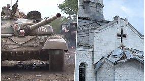 Konfliktas dėl Kalnų Karabacho: daugiau nei 300 žuvusių, stipriai apgadinta istorinė katedra