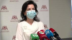 Santaros klinikos atstovai pristato situaciją Vilniaus regione dėl Covid-19 sergančių pacientų gydymo