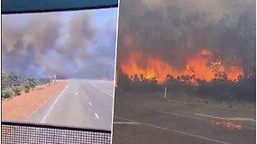 Vairuotojas užfiksavo dramatišką gaisro plitimą Australijoje: vos per 20 min. dūmai virto milžiniškomis liepsnomis
