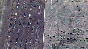 Rusija sparčiai telkia karinę techniką prie Ukrainos sienos –  pajėgų koncentracija jau didesnė nei aneksijos metu