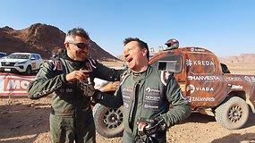 Laimingi į finišą atvykę Antanas ir Darius: galėjom finiše ir nebūt, pridarėm klaidų