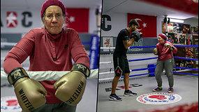 74 m. senjorė užsimauna pirštines ir žengia į bokso ringą – taip kovoja prieš Parkinsono ligą