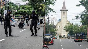 Prie Indonezijos katalikų bažnyčios įvyko galingas sprogimas – įtariami du ekstremistai