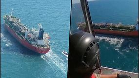 Irano Islamo revoliucinė gvardija paleido areštuotą Pietų Korėjos tanklaivį
