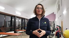 Valakupių reabilitacijos centro kineziterapeutė Jurgita