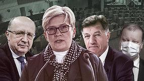 """Buvę premjerai apie I.Šimonytės vyriausybę: tikisi """"sveiko proto"""", bet nesutaria dėl ministrų kandidatūrų"""