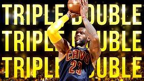 LeBronas Jamesas NBA finale pasiekė penktą karjeroje trigubą dublį