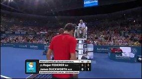 Absoliuti klasė: Rogeris Federeris į pusfinalį iškopė per 40 minučių
